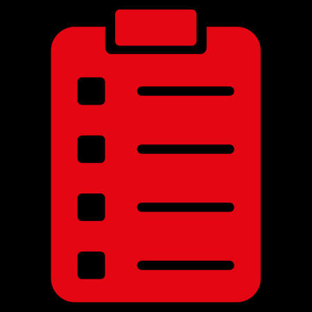 numerate: Pad Form raster icon. Style is flat symbol, red color, rounded angles, black background.