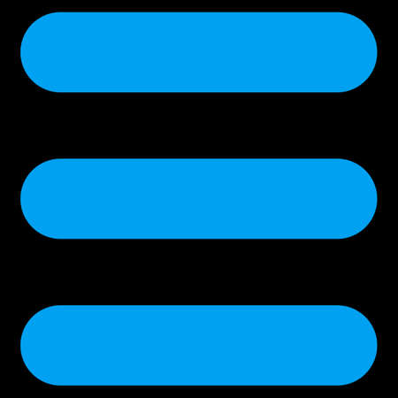 numerate: Stack icon from Primitive Set. This isolated flat symbol is drawn with blue color on a black background, angles are rounded.