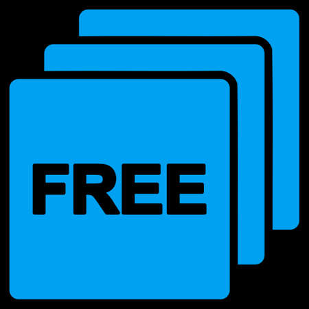 uses: Free icon. This flat raster symbol uses blue color, rounded angles, and isolated on a black background.