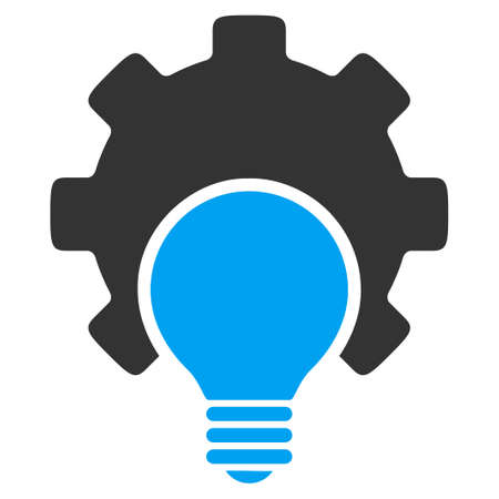 gray bulb: Bulb Configuration vector icon. Style is bicolor flat symbol, blue and gray colors, rounded angles, white background.
