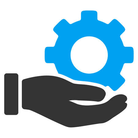 Mechanic Service vector icon. Style is bicolor flat symbol, blue and gray colors, rounded angles, white background.