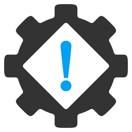 config: Industry Problem vector icon. Style is bicolor flat symbol, blue and gray colors, rounded angles, white background.