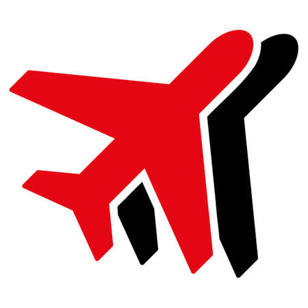 avia: Airplanes vector icon. Style is flat symbol, rounded angles, white background. Illustration