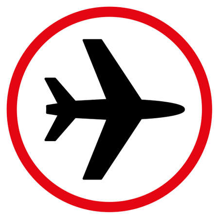 airflight: Airport vector icon. Style is flat symbol, rounded angles, white background.