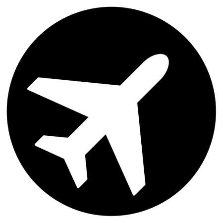ico: Avion vector icon. Style is flat symbol, rounded angles, white background. Illustration