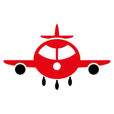 airflight: Cargo Plane vector icon. Style is flat symbol, rounded angles, white background. Illustration