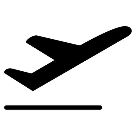 departure: Departure vector icon. Style is flat symbol, rounded angles, white background. Illustration