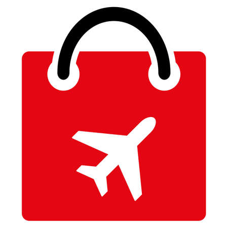 duty: Duty Free vector icon. Style is flat symbol, rounded angles, white background.