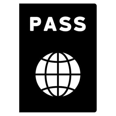 passeport: Passeport vecteur icône. Le style est le symbole plat, angles arrondis, fond blanc.