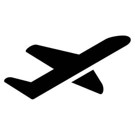 Takeoff vector icon. Style is flat symbol, rounded angles, white background.