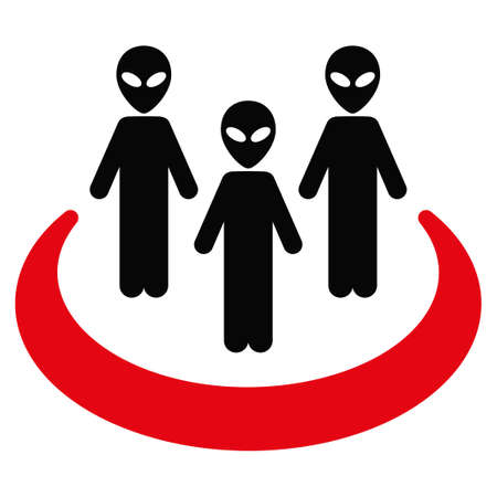 space invaders game: Alien Community vector icon. Style is flat symbol, rounded angles, white background. Illustration