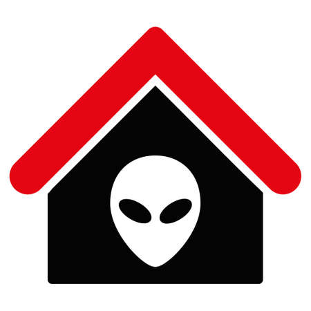 birthplace: Alien Home vector icon. Style is flat symbol, rounded angles, white background.