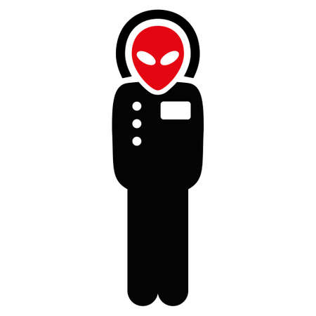 jetpack: Visitor Skafandr vector icon. Style is flat symbol, rounded angles, white background.