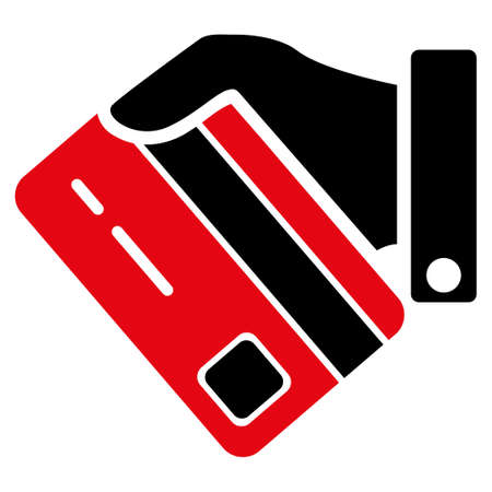 creditcard: Banking Service vector icon. Style is flat symbol, rounded angles, white background.