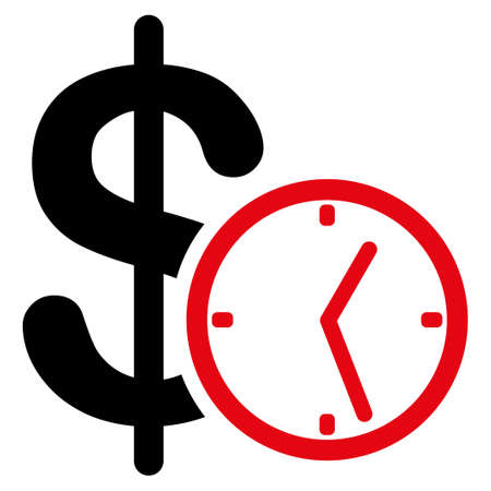 timed: Credit vector icon. Style is flat symbol, rounded angles, white background.