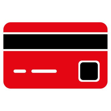 creditcard: Credit Card vector icon. Style is flat symbol, rounded angles, white background.