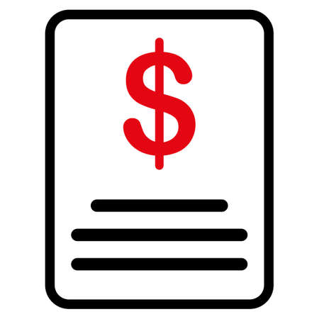 budget: Invoice Budget vector icon. Style is flat symbol, rounded angles, white background.