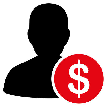 investor: Investor vector icon. Style is flat symbol, rounded angles, white background. Illustration