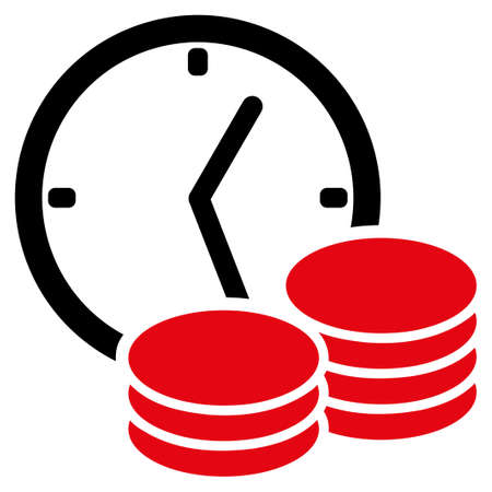 timed: Regular Income vector icon. Style is flat symbol, rounded angles, white background.