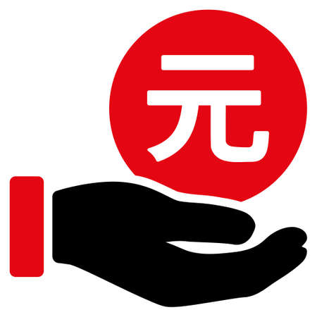 Renminbi Yuan Coin Payment vector icon. Style is flat symbol, rounded angles, white background. Illustration
