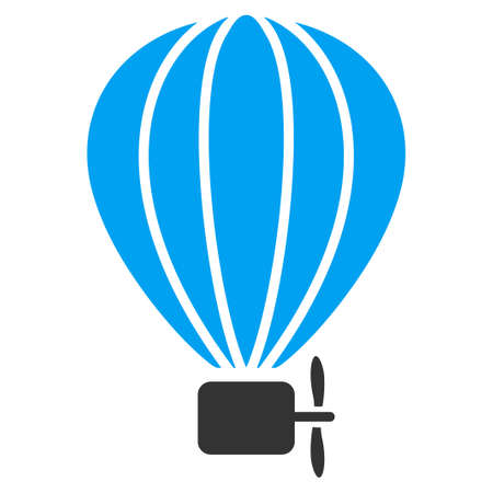 air baloon: Air Balloon vector icon. Style is flat symbol, rounded angles, white background.
