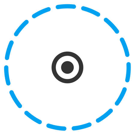 perimeter: Circle Area vector icon. Style is flat symbol, rounded angles, white background.