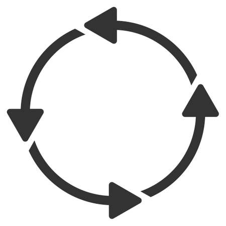 ico: Circular Route vector icon. Style is flat symbol, rounded angles, white background. Illustration
