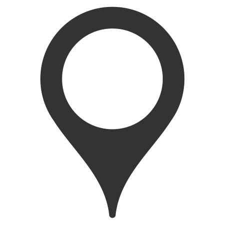 map marker: Map Marker vector icon. Style is flat symbol, rounded angles, white background.