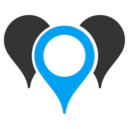 지도 마커 벡터 아이콘입니다. 스타일은 평면 기호, 둥근 각도, 흰색 배경입니다. 스톡 콘텐츠 - 46878625