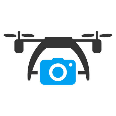 photo icon: Photo Drone vector icon. Style is flat symbol, rounded angles, white background.