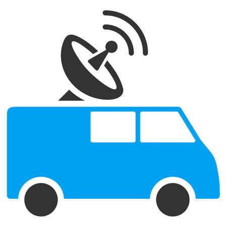 ico: Radio Control Car vector icon. Style is flat symbol, rounded angles, white background. Illustration