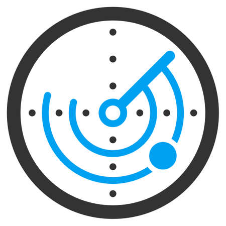 ico: Round Radar vector icon. Style is flat symbol, rounded angles, white background.