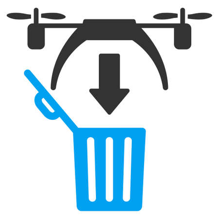 airflight: Trash Drone vector icon. Style is flat symbol, rounded angles, white background.