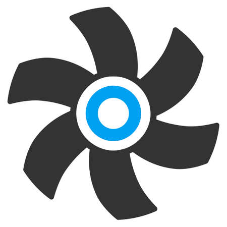 impeller: Rotor vector icon. Style is flat symbol, rounded angles, white background.