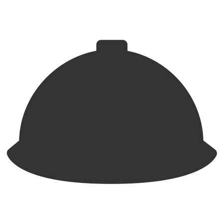 ico: Builder Helmet vector icon. Style is flat symbol, rounded angles, white background. Illustration
