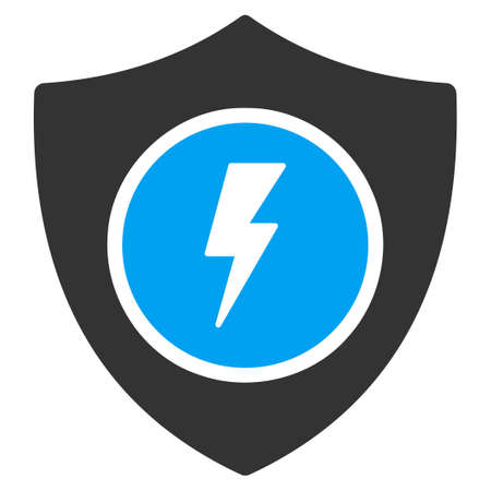 honour guard: Electric Guard vector icon. Style is flat symbol, rounded angles, white background.