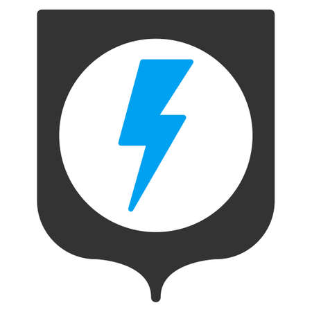 ico: Electric Protection vector icon. Style is flat symbol, rounded angles, white background.