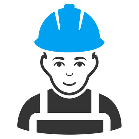 glad: Glad Worker vector icon. Style is flat symbol, rounded angles, white background.