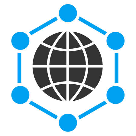 ico: Global Frame vector icon. Style is flat symbol, rounded angles, white background. Illustration