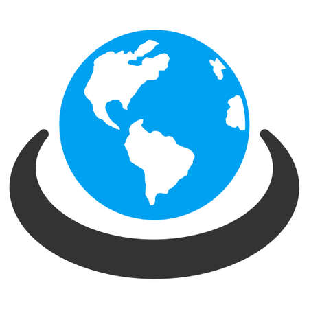 international network: International Network vector icon. Style is flat symbol, rounded angles, white background.