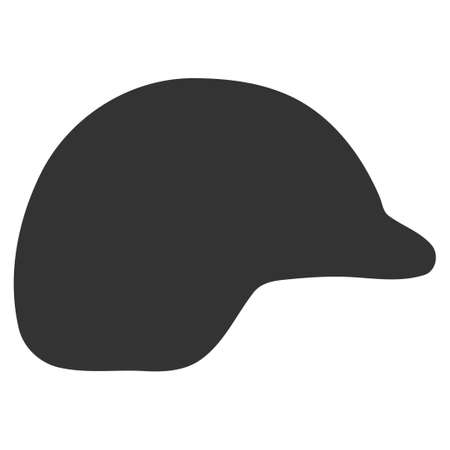 ico: Motorcycle Helmet vector icon. Style is flat symbol, rounded angles, white background. Illustration
