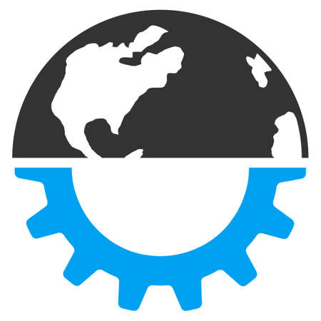 config: International Industry vector icon. Style is flat symbol, rounded angles, white background.