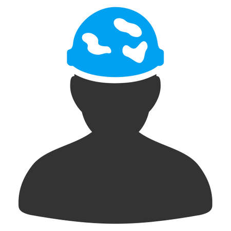 ico: Soldier Under Spotted Helmet vector icon. Style is flat symbol, rounded angles, white background.