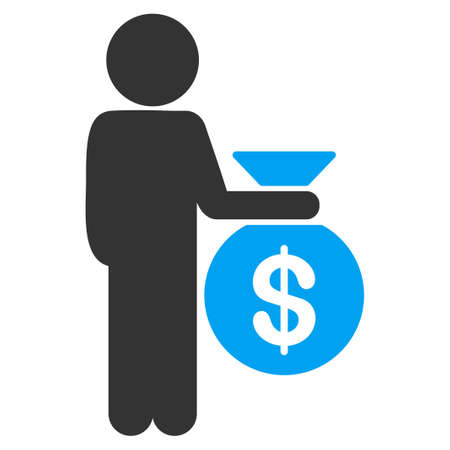 investor: Child Investor vector icon. Style is flat symbol, rounded angles, white background.