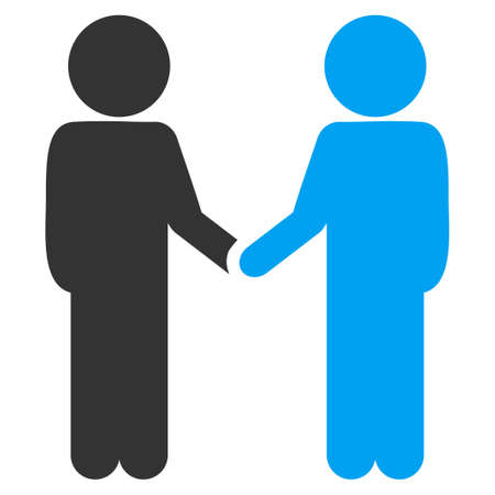 Children Handshake vector icon. Style is flat symbol, rounded angles, white background. Illustration