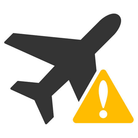 trip hazard: Aircraft Warning vector icon. Style is flat symbol, rounded angles, white background.
