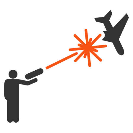 rebel: Rebel Strikes Airplane vector icon. Style is flat symbol, rounded angles, white background.