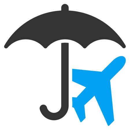 usaf: Aviation Umbrella vector icon. Style is flat symbol, rounded angles, white background. Illustration