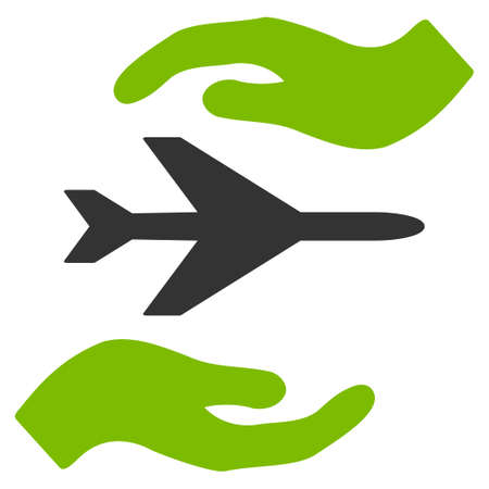 airflight: Airplane Care glyph icon. Style is flat symbol, rounded angles, white background.