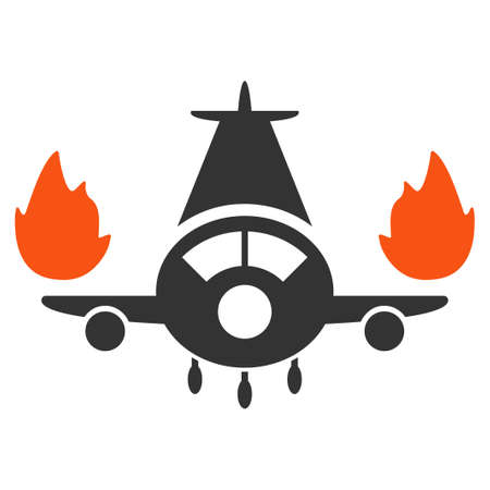 airflight: Airplane Engines Burn glyph icon. Style is flat symbol, rounded angles, white background.